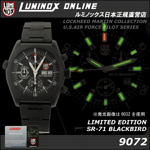 緊急入荷!ラスト1本!【世界限定777本】LUMINOX SR-71BLACKBIRD LIMITED EDITION 9072 VALJOU...