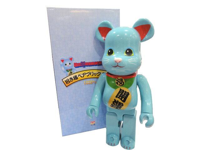 ぬいぐるみ・人形, 抱き人形 MEDICOM TOY PLUS BERBRICK 1000 MANEKI NEKO BLUE G.I.D .Ver