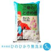 送料無料 新米 28年 【無洗米】 熊本県産 ヒノヒカリ 5kg 白米 精米 通販 御歳暮 内祝い 出産祝い 結婚祝い ギフト