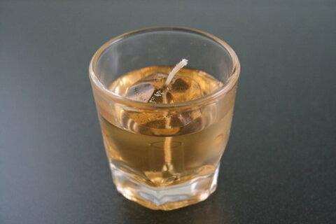 ろうそく 蝋燭 カメヤマローソク ウイスキーロックキャンドル 故人の好物シリーズ 0305a015a