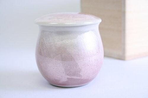 「銀彩ピンク2寸:九谷焼」0907d001b