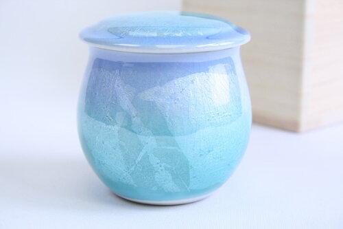 「銀彩グリーンブルー2寸:九谷焼」0...