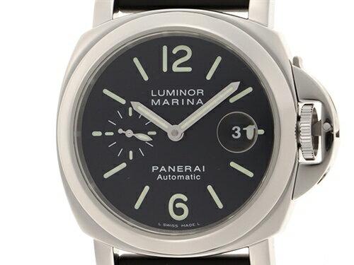 E番(2002年頃製)PANERAIパネライ時計ルミノールマリーナPAM00104オートマチック自動巻きSS/ラバーステンレス.