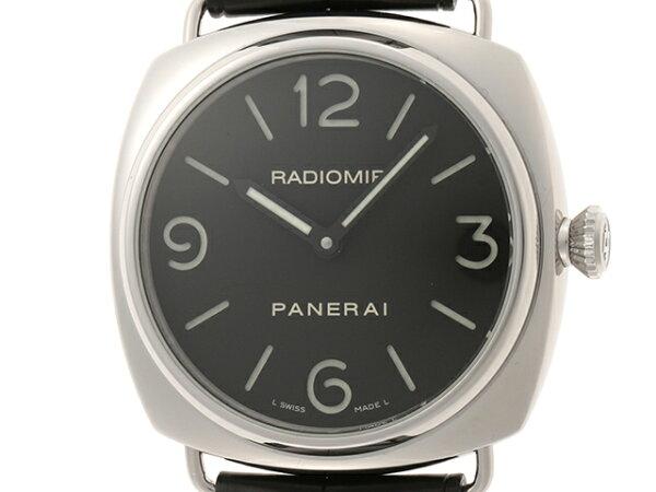 PANERAIパネライ時計ラジオミールPAM00774ブラック文字盤メンズ手巻きステンレス/革ベルトSS/革 430 21481