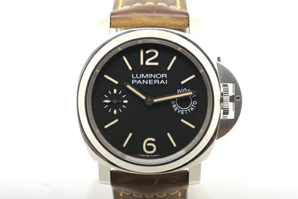2018年12月並行PANERAIパネライ時計ルミノールマリーナ8デイズアッチャイオ手巻き時計PAM00590SS/革/ラバー