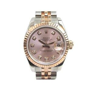 ROLEX Rolex Datejust 179171G Automatic Pink Dial 10P Diamond D No. [433] [Used] [Daikokuya]