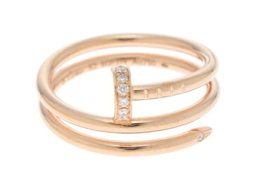 Cartier 貴金属・宝石 指輪 リング ジュストアンクルリング ピンクゴールド ダイヤモンド  PG D5.1g #52 52号 【433】【中古】【大黒屋】