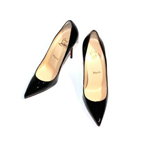 Christian Louboutin Christian Louboutin Pumps DECOLLETE 554 Ladies 36 Half Black Patent 3120836 [432] [Used] [Daikokuya]