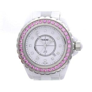 [Livraison gratuite] CHANEL Chanel J12 12P diamant CE céramique montre à quartz pour femmes [473] [utilisé] [Daikokuya]