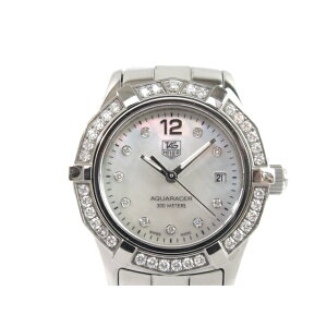 [Free Shipping] TAG HEUER TAG Heuer Watch Aqua Racer Quartz Ladies Diamond Bezel SS 10PD WAF1416 [432] [Used] [Daikokuya]