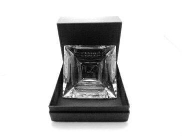 BVLGARI ブルガリ クリスタルガラス アッシュトレイ 灰皿【430】【中古】【大黒屋】