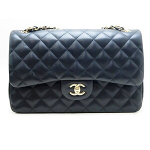 [Free Shipping] CHANEL Chanel Matrasse W Flap Chain Shoulder Bag Deca Matrasse W Lambskin [472] [Used] [Daikokuya]