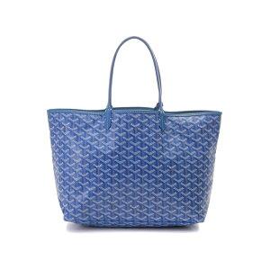 【LIVRAISON GRATUITE】 GOYARD GOYARD San Luito Tote PM Tote Bag Toile enduite Calf Blue 【431】 【Used】 【Daikokuya】