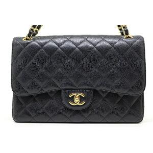 【फ्री शिपिंग AN Chanel Chanel बैग मैट्रसे W W फ्लैप चेन शोल्डर बैग डेका मैट्रेस W फ्लैप W चैन शोल्डर ब्लैक GP कैवियार [२००] [इस्तेमाल किया] [डिकाकू]