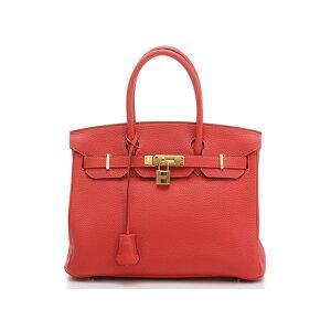 HERMES Hermes Handtasche Birkin 30 Rouge Pivoine Gold Metallbeschläge □ R graviert SJ [472] KR [Gebraucht] [Daikokuya]