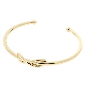 [免费送货] TIFFANY&CO蒂芙尼手链手镯无边袖口小号K18YG(黄金)手臂围:15cm [430] [二手] [Daikokuya]