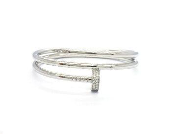 【送料無料】Cartier カルティエ ブレスレット ジュストアンクル K18WG ダイヤモンド 0.51ct 62個 サイズ16 N6708517 【433】【中古】【大黒屋】