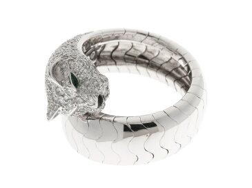 【送料無料】Cartier カルティエ パンテール ラカルダ リング 指輪 WG ダイヤモンド オニキス エメラルド 54号 【460】【中古】【大黒屋】