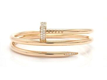 【送料無料】Cartier カルティエ ジュストアンクル ブレスレット バングル PG ピンクゴールド ダイヤモンド 【474】【中古】【大黒屋】