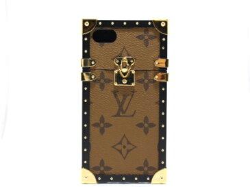 【送料無料】LOUIS VUITTON ルイヴィトン アイトランク アイフォンケース アイフォンカバー IPHONE7 モノグラム・リバース M64484 【474】【中古】【大黒屋】