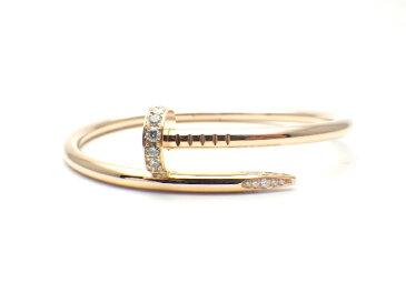 【送料無料】Cartier カルティエ ジュスト アン クル ブレスレット ピンクゴールド ダイヤモンド B6048515 15号 【437】【中古】【大黒屋】