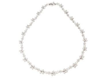 【送料無料】HARRY WINSTON ハリーウィンストン ネックレス ダイヤデザインネックレス K18ホワイトゴールド/プラチナ950 ダイヤモンド合計24.57カラット 2015年海外購入【430】【中古】【大黒屋】