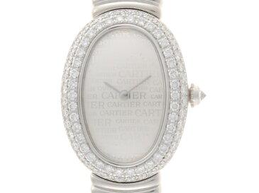 【送料無料】Cartier カルティエ 時計 ベニュワール WG ニュースダイヤル ホワイトゴールド クオーツ 【472】【中古】【大黒屋】