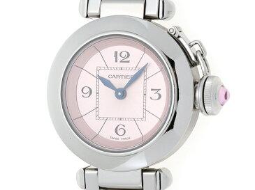 【送料無料】Cartier 時計 2973 ミス パシャ クオーツ SS/60.9g 日本限定【433】【中古】【大黒屋】