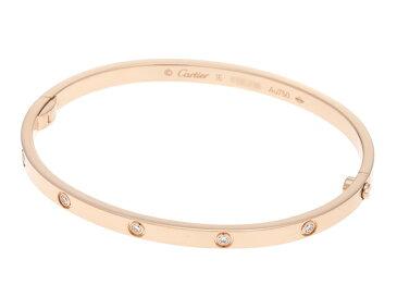 【送料無料】Cartier カルティエ LOVE ミニラブブレス ブレスレット バングル ミニラブBL SM PG ピンクゴールド オールダイヤ ダイヤモンド10個 17.6g #16 16号【472】【中古】【大黒屋】