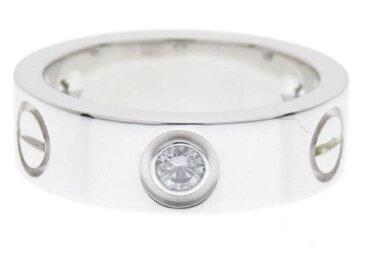 【送料無料】Cartier カルティエ ラブリング リング ハーフダイヤモンド WG D 7.9g #48【434】【中古】【大黒屋】