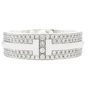 [Free Shipping] TIFFANY&CO Tiffany & co & Co. Precious Metals & Jewelery Ring Ring Tiffany & co T TWO Ring White Gold WG Diamond 5.9g No. 10 [200] [Used] [Daikokuya]