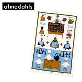 Almedahls アルメダール 北欧柄!ティータオル 70372 カフェ ブルー アルメダールス【楽ギフ_包装】【楽ギフ_のし宛書】