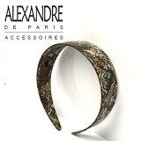 アレクサンドル ドゥ パリ ALEXANDRE DE PARIS カチューシャ オニキス 4cm幅 ヴァンドーム ブランド ヘッドドレス カチューム ヘアバンド 髪飾り 通販 ギフト・のし可