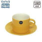 ☆アラビア(Arabia) カラーズ(Colors) イエロー コーヒーカップ&ソーサー 北欧 フィンランド 食器 (yellow)【楽ギフ_包装】【楽ギフ_のし宛書】