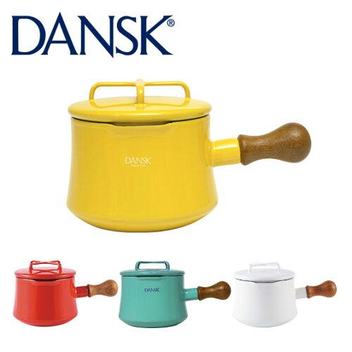 DANSK ダンスク ソースパン 1QT ホワイト フタ付き 片手鍋13cm ホーロー 鍋 コベンスタイル 北欧...
