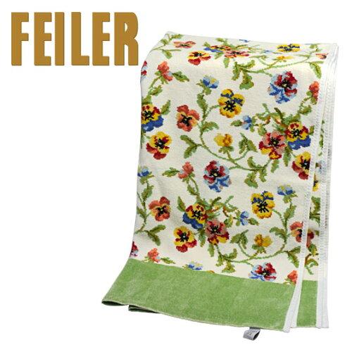 FEILER フェイラー バスタオル ビオラ ホワイト - ピスタチオ 75x150cm Chenille Bath Towel Viola...