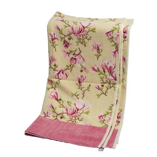 FEILER フェイラー バスタオル マグノリアベージュ ローズウッド 75x150cm Chenille Bath Towel Ma...