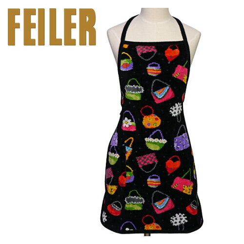 FEILER フェイラー エプロン No.5 クレイジーバッグ ラッピングOK! Chenille Apron Crazy Bags 【...
