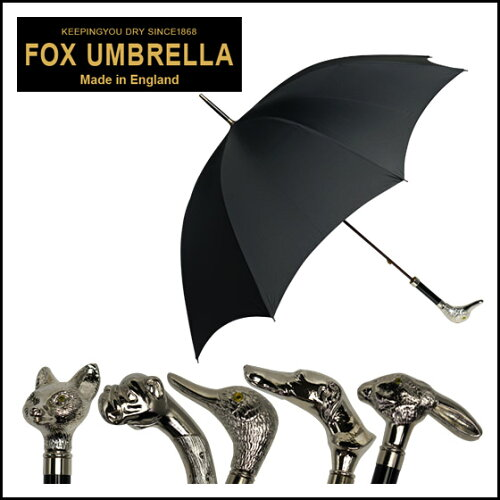 FOX UMBRELLAS(フォックス アンブレラズ)GT29 ニッケルフィニッシュアニマルヘッドハンドル 長傘...