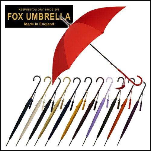 フォックスアンブレラズ FOX UMBRELLAS 傘 レディース WL1 スリムレザークルックハンドル 長傘 選...