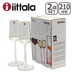 iittala イッタラ Essence(エッセンス)シャンパン 210ml クリア 2個セッ…