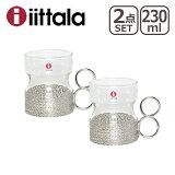 iittala イッタラ Tsaikka (ツァイッカ/トサイカ)タンブラー230ml クリア 2個セット ギフト・のし可 ステンレ スホルダー付き グラス