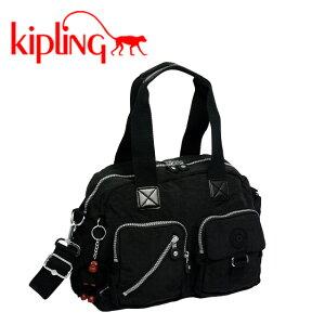 KIPLING キプリング☆ショルダーミニボストンバッグ DEFEA K13636 ブラック【円高還元】【楽ギフ_包装】【YDKG-f】