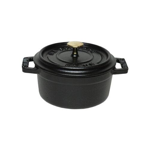 ストウブ STAUB ピコ ココット ラウンド 14cm ブラック ホーロー鍋 ミニ 保冷性が高いから鍋アイス...