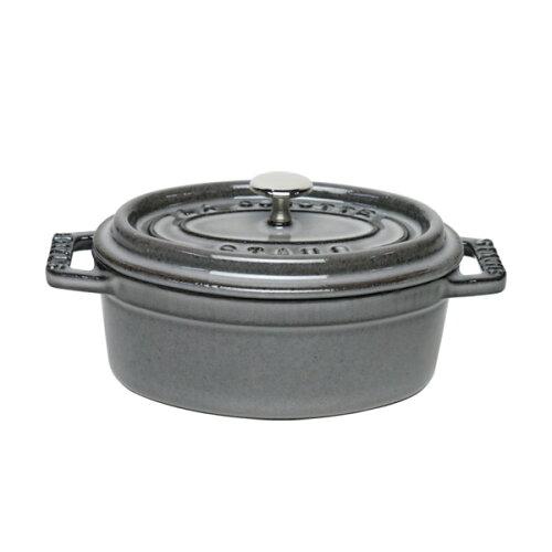 ストウブ STAUB ピコ ココット オーバル 11cm グレー ホーロー 鍋 ミニ COCOTTE OVAL 楕円 stb1124...