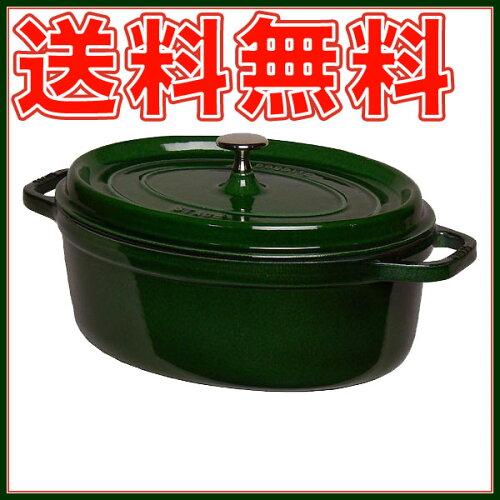 ストウブ STAUB ピコ ココット オーバル 29cm バジルグリーン(マジョリカグリーン) ホーロー 鍋 ...