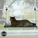 [キャットベッド]K&H イージーマウント ベッドシングル KH9091(kitty sill-EZ window mount・窓取付け・猫の遊び場・ハンモック・ペットベッド・窓際・足場・インスタ映え・かわいい・おしゃれ)