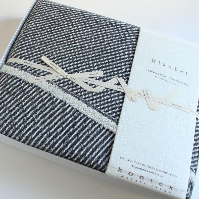 今治タオル コンテックス スロー&ブランケットImabari Towel Kontex Throw & Blanketサーフ Surf ネイビー ギフトセット