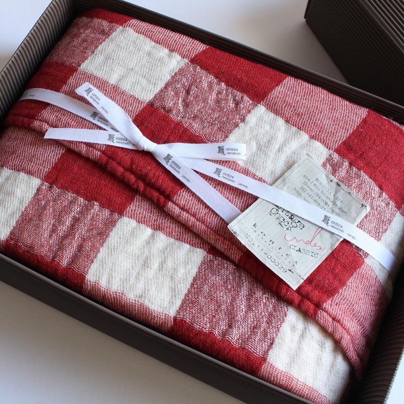 今治タオル コンテックス ヴィンテージチェック ギフトセットImabari Towel Kontex Vintage Check GiftSetバスタオル 1枚ギフトラッピング無料 のし無料