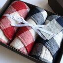 今治タオル コンテックス ヴィンテージチェック ギフトセットImabari Towel Kontex Vintage Check GiftSetフェイスタオル 2枚 x ゲストタオル 2枚ギフトラッピング無料 のし無料